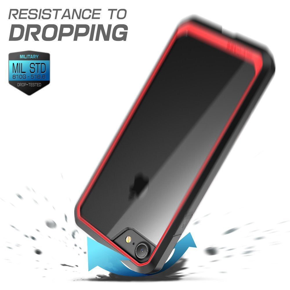 SUPCASE Unicorn Beetle Series Premium Hybrid Protective Clear Case for Apple iPhone 8 iPhone 8 Plus (Red)
