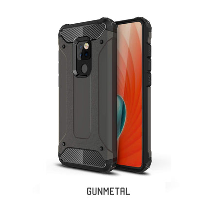 Huawei Mate 20 Pro Case, Rugged Design Heavy Duty Hybrid Protection Case Cover-Gunmetal