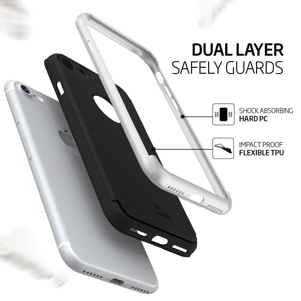 Genuine TAGGSHIELD Slim Shield For iPhone 8 iPhone 8 Plus (Silver)