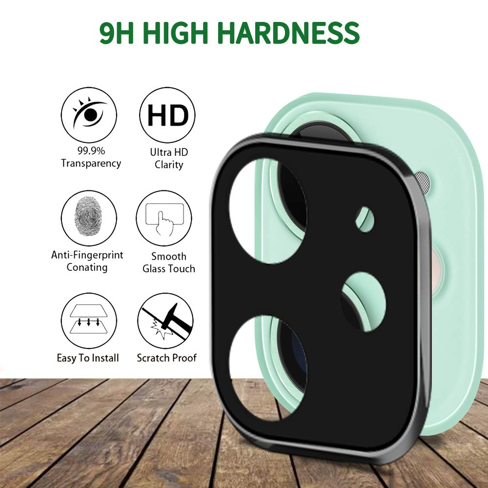 MAXSHIELD iPhone 11 Full Coverage Camera Lens Tempered Glass Screen Protector
