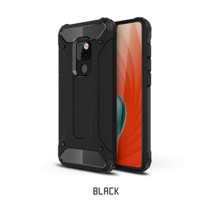 Huawei Mate 20 Case, Rugged Design Heavy Duty Hybrid Protection Case Cover-Black
