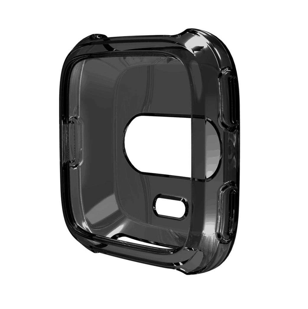 For Fitbit Versa Protective Case Full Body Anti Scratch Silicone Shell Frame Shield