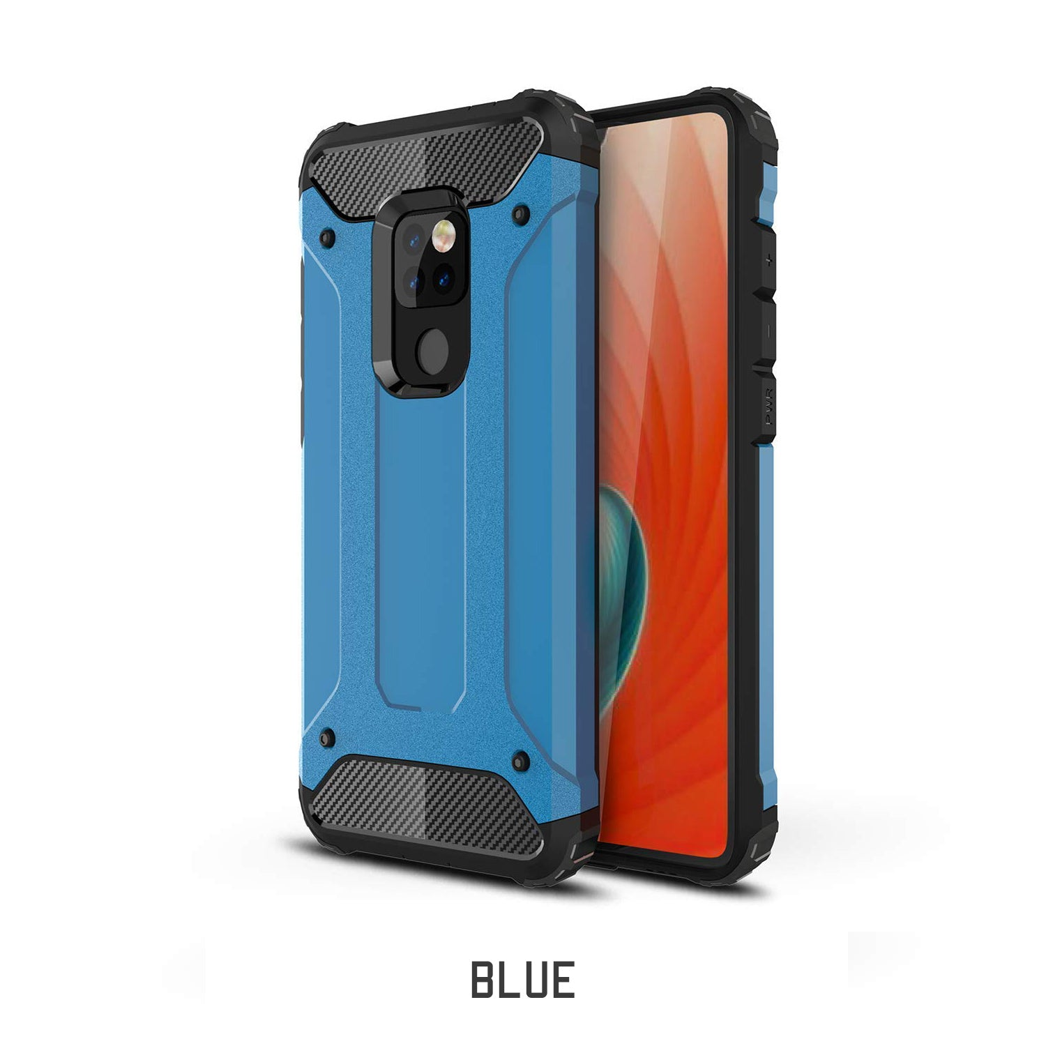 Huawei Mate 20 Case, Rugged Design Heavy Duty Hybrid Protection Case Cover-Blue