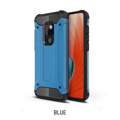 Huawei Mate 20 Pro Case, Rugged Design Heavy Duty Hybrid Protection Case Cover-Blue