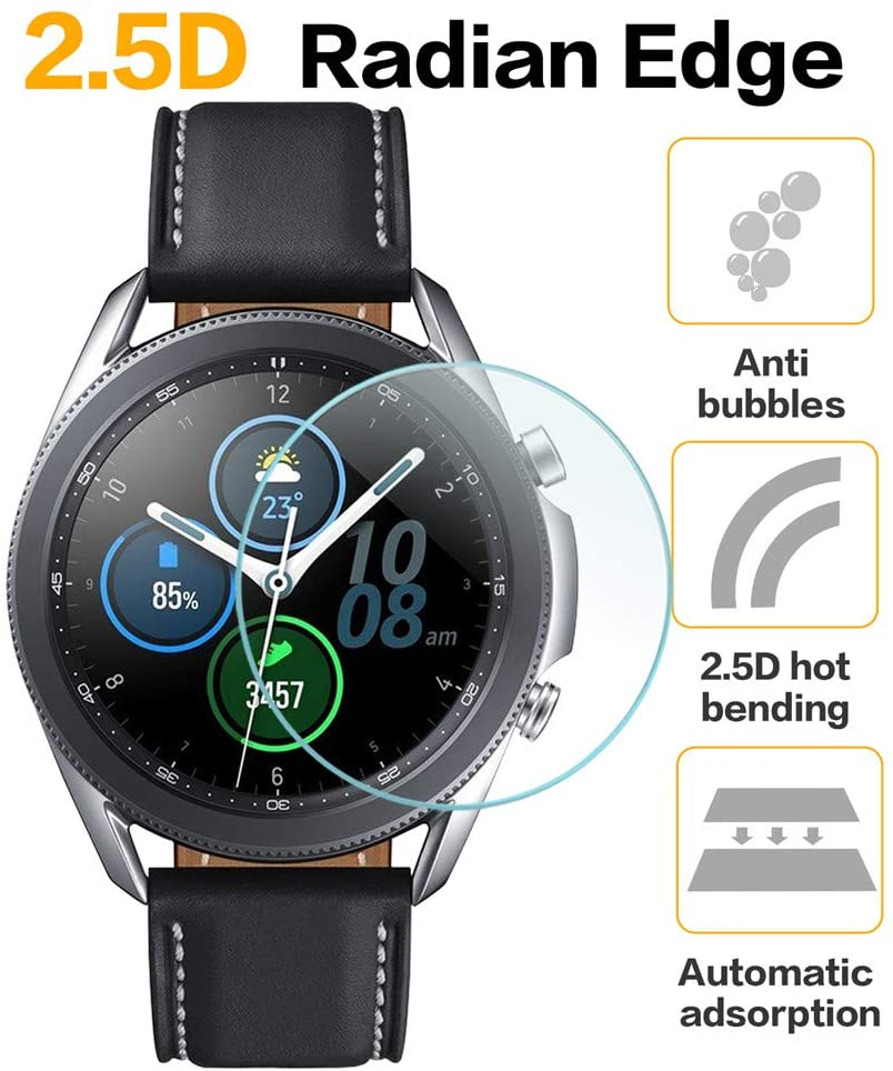 3 X For Galaxy Watch 3 45mm/ 41mm FULL Cover Tempered Glass Screen Protector