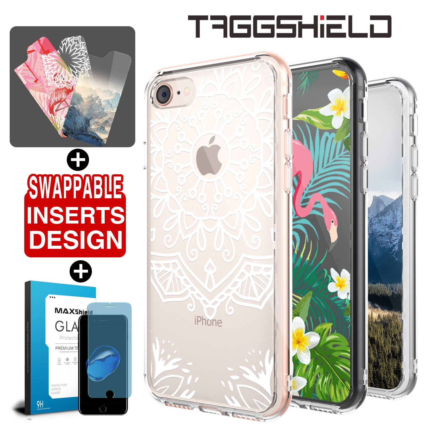 Genuine TAGGSHIELD For Apple Design Insert Cover For iPhone 8/7, 7/8 Plus