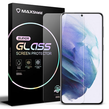 2 PCS Galaxy S21 Screen Protector,Maxshield Tempered Glass Screen Protector