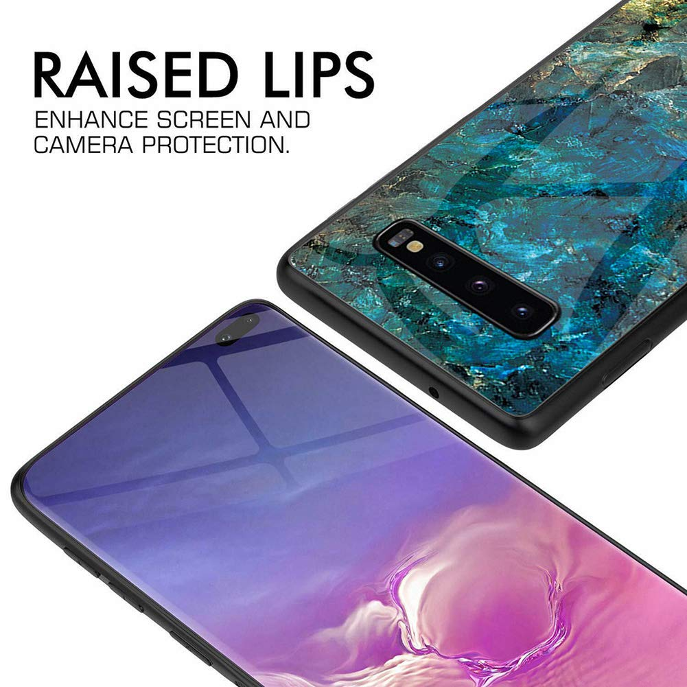 Samsung Galaxy S10 Case Glass Heavy Duty Shockproof Slim Cover