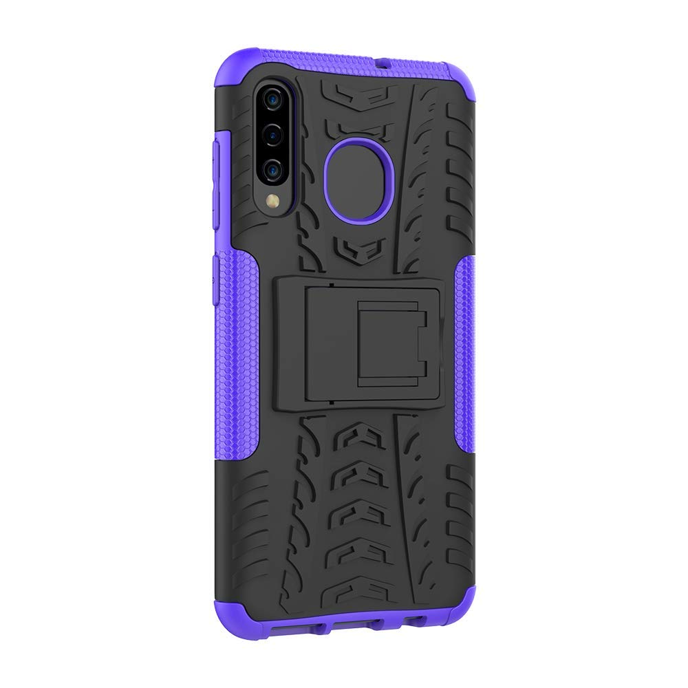 Samsung Galaxy A70 Heavy Duty Tough Shockproof Strong Rugged Anti-Knock Kids Protective Case Cover (Purple)