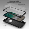 iPhone 7 Plus Thin Shockproof Full Body Soft Case Cover Wth Tempered Glass