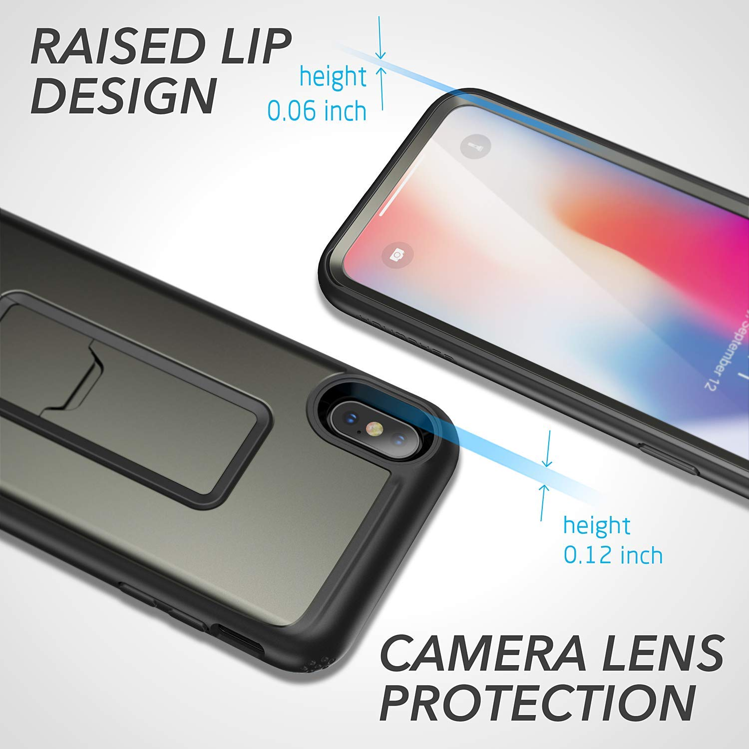 iPhone XR Kickstand Case, Genuine Yourmaker Heavy Duty Protection Cover