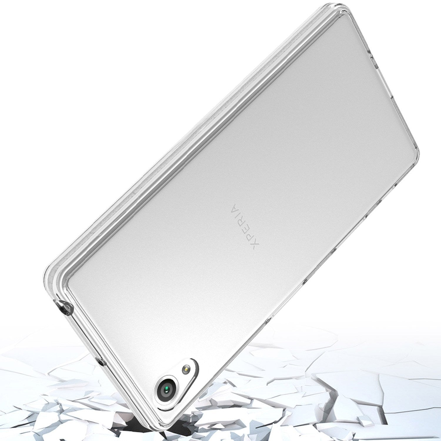 Crystal Clear Acrylic Plastic Back Panel and TPU Frame Stylish Phone Case for Sony Xperia X