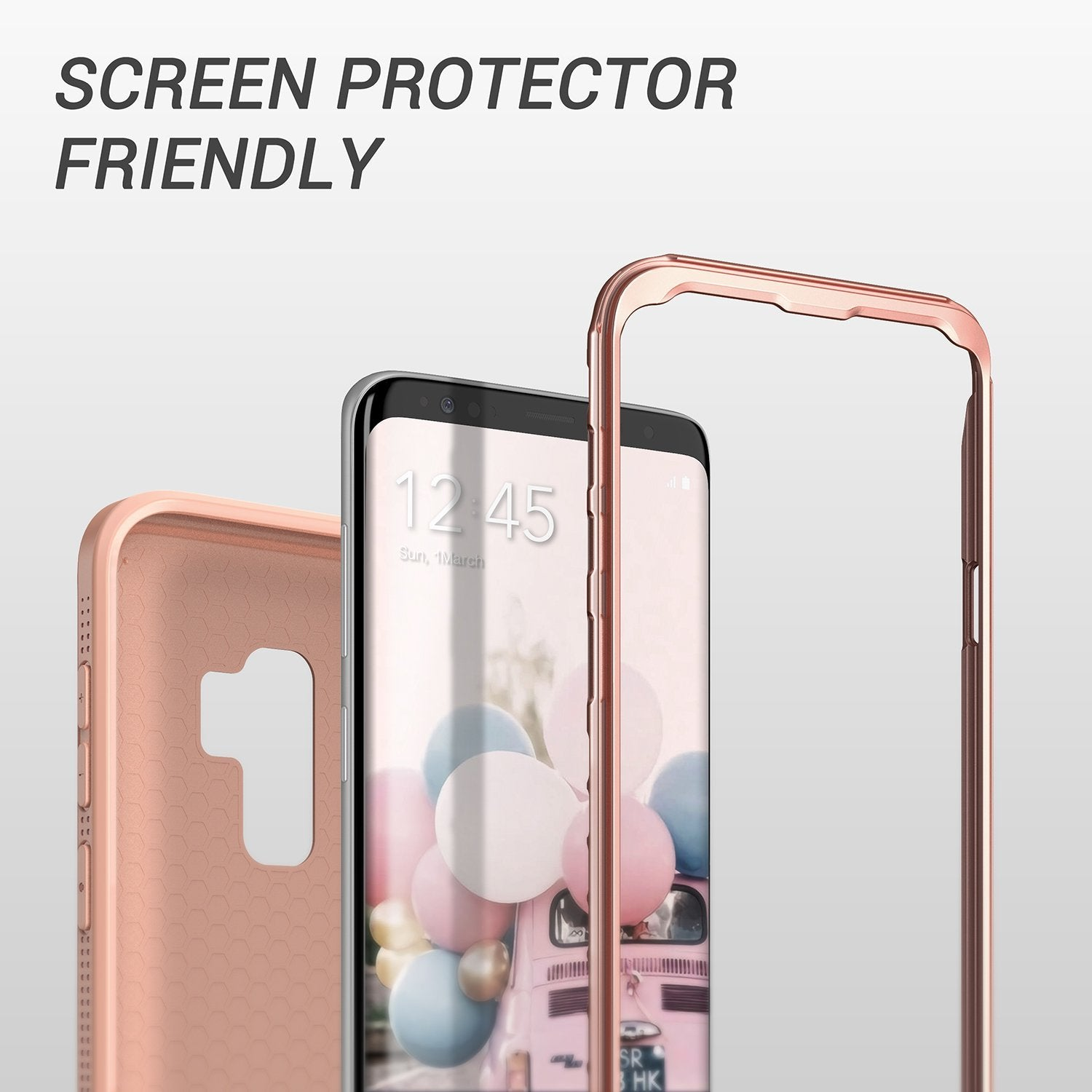 YOUMAKER® Samsung Galaxy S9 Plus HEAVY DUTY Shockproof Case Cover (Rose Gold)