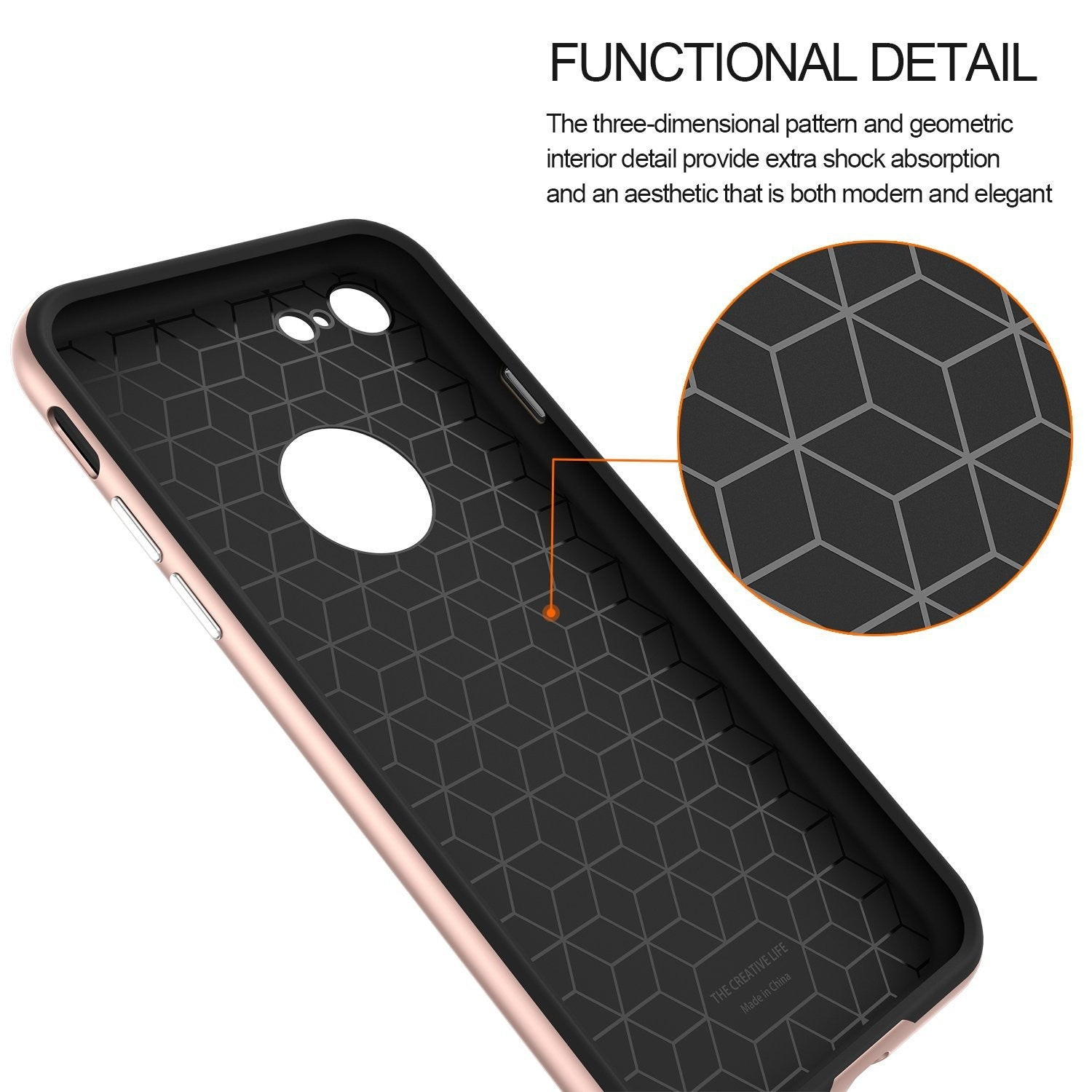 Genuine TAGGSHIELD Slim Shield For iPhone 7 iPhone 7 Plus (Rose Gold)