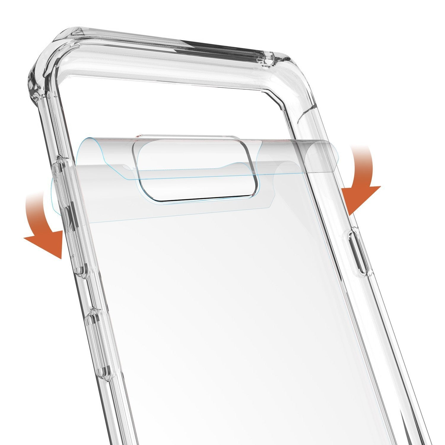 Clear Hybrid Crystal Heavy Duty Bumper Case Cover for Samsung Galaxy S8 Plus