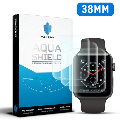 Genuine MaxShield HD Crystal Screen Protector for Apple Watch 38mm iWatch