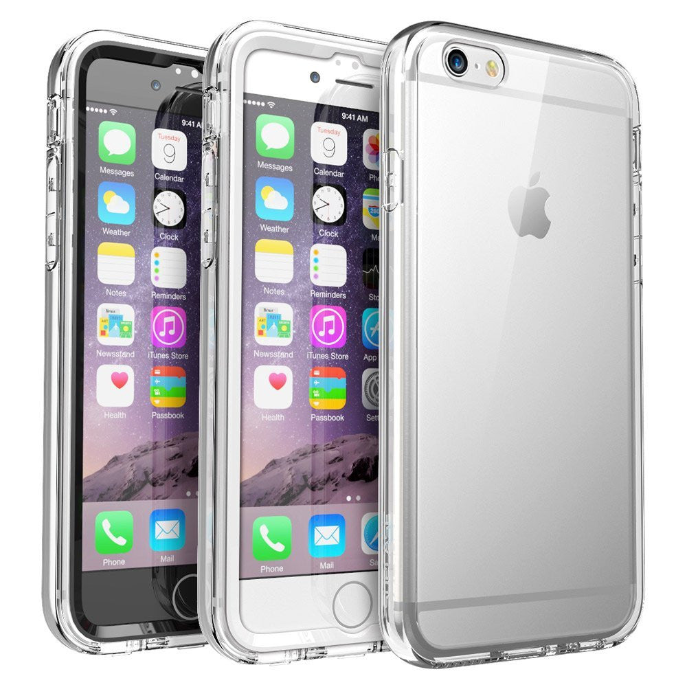 SUPCASE Ares Full-body Rugged Clear Bumper Case For iPhone 6 6S Case Cover