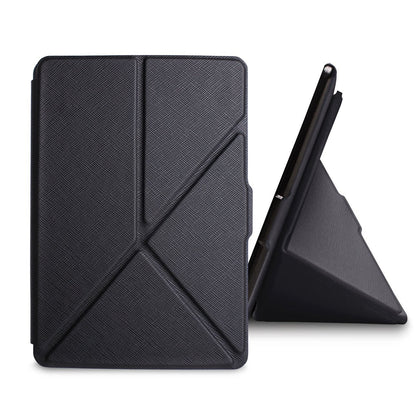Black Origami Magnetic PU Leather Case Cover for Amazon Kindle 8th Gen 2016