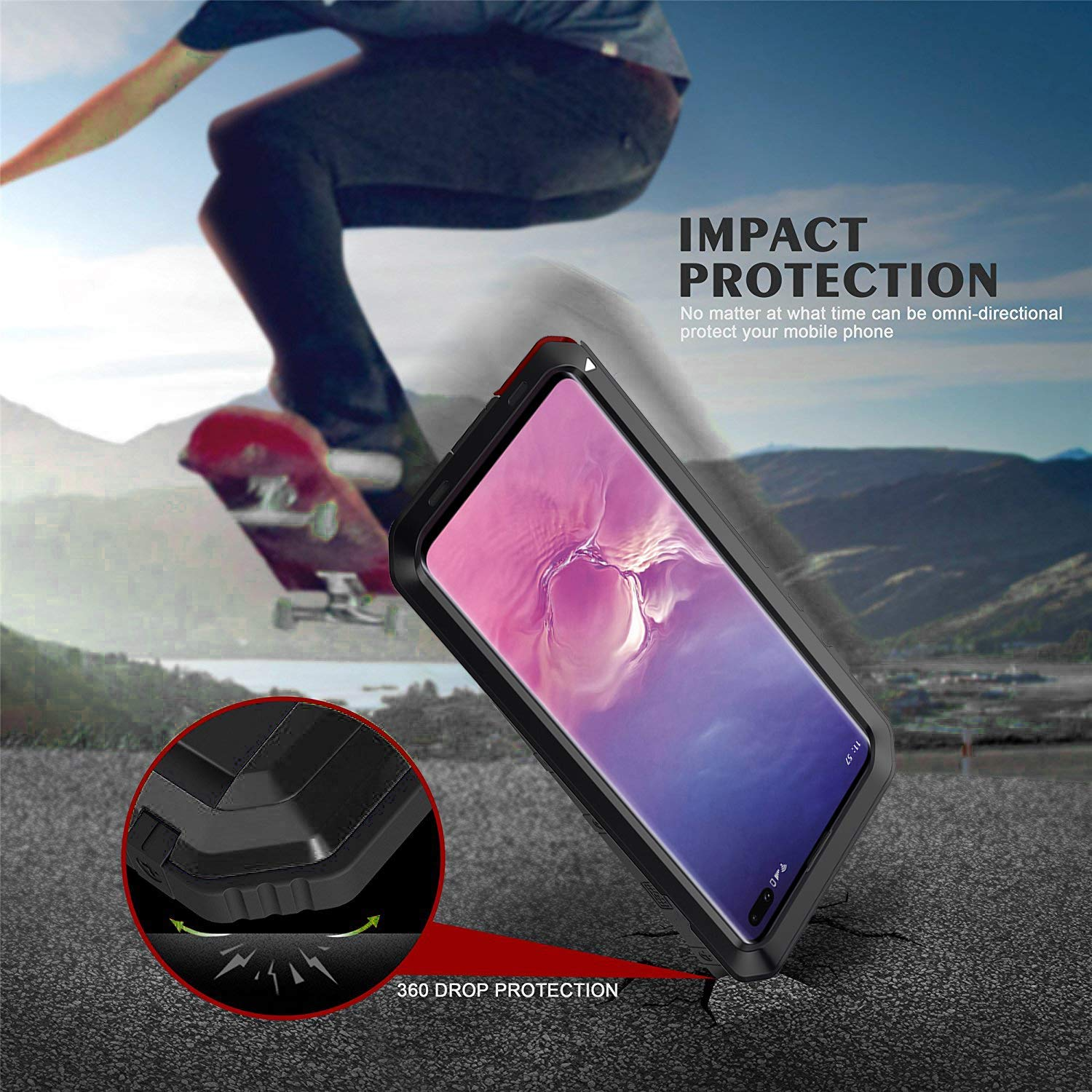 Case Heavy Duty Shockproof Dirtproof Waterproof Cover For Samsung Galaxy S8 Plus