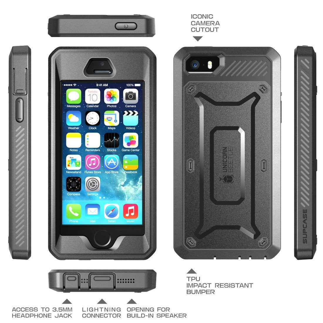 Genuine SUPCASE Heavy Duty Case Cover For Apple iPhone 5S , iPhone 5,iPhone SE