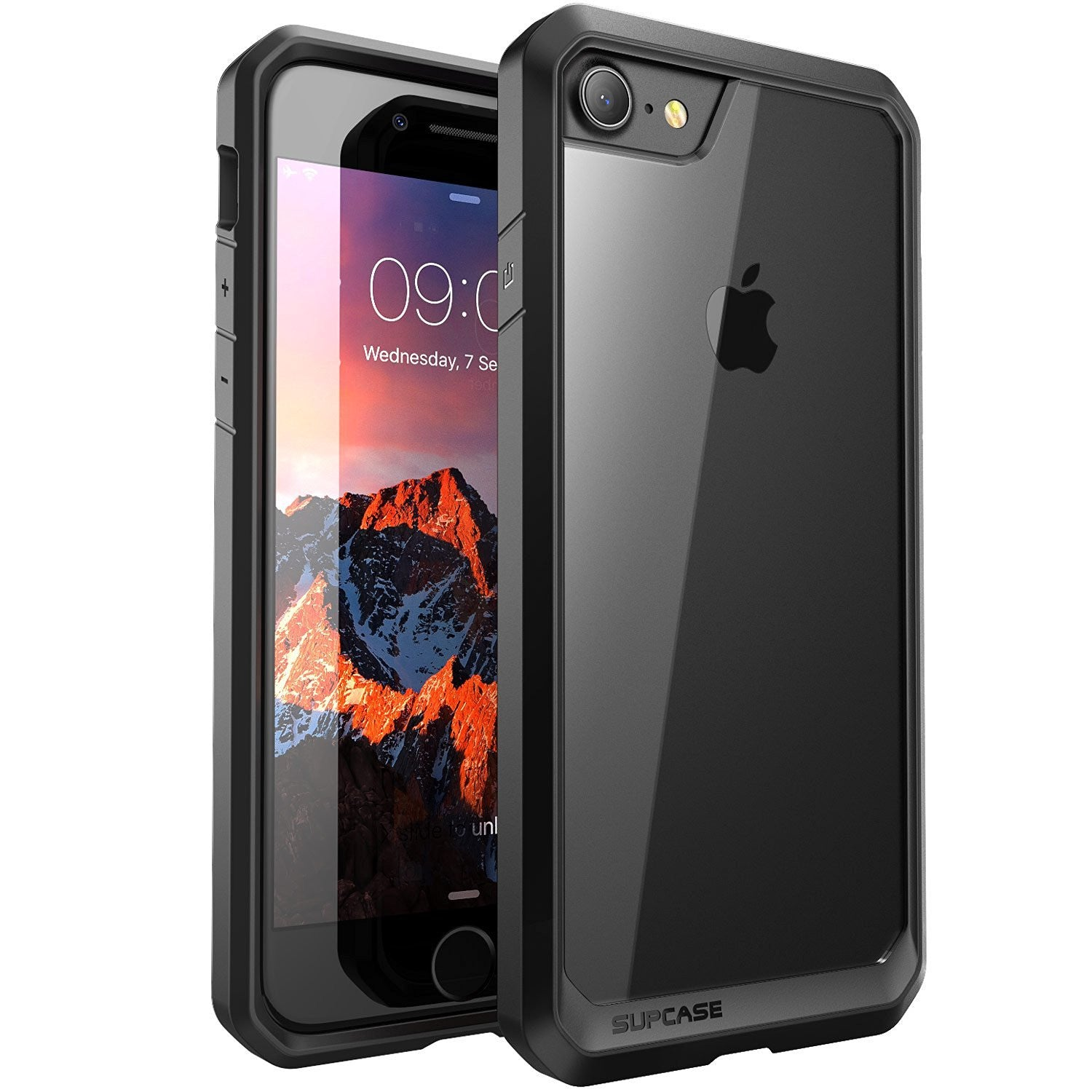 SUPCASE Unicorn Beetle Series Premium Hybrid Protective Clear Case for Apple iPhone 7 iPhone 7 Plus (Black)