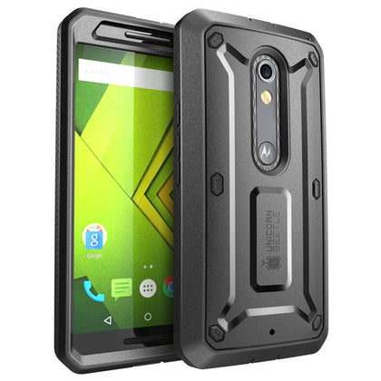 Moto X Play Case, SUPCASE  Heavy Duty Case Cover Plus Belt Clip Holster