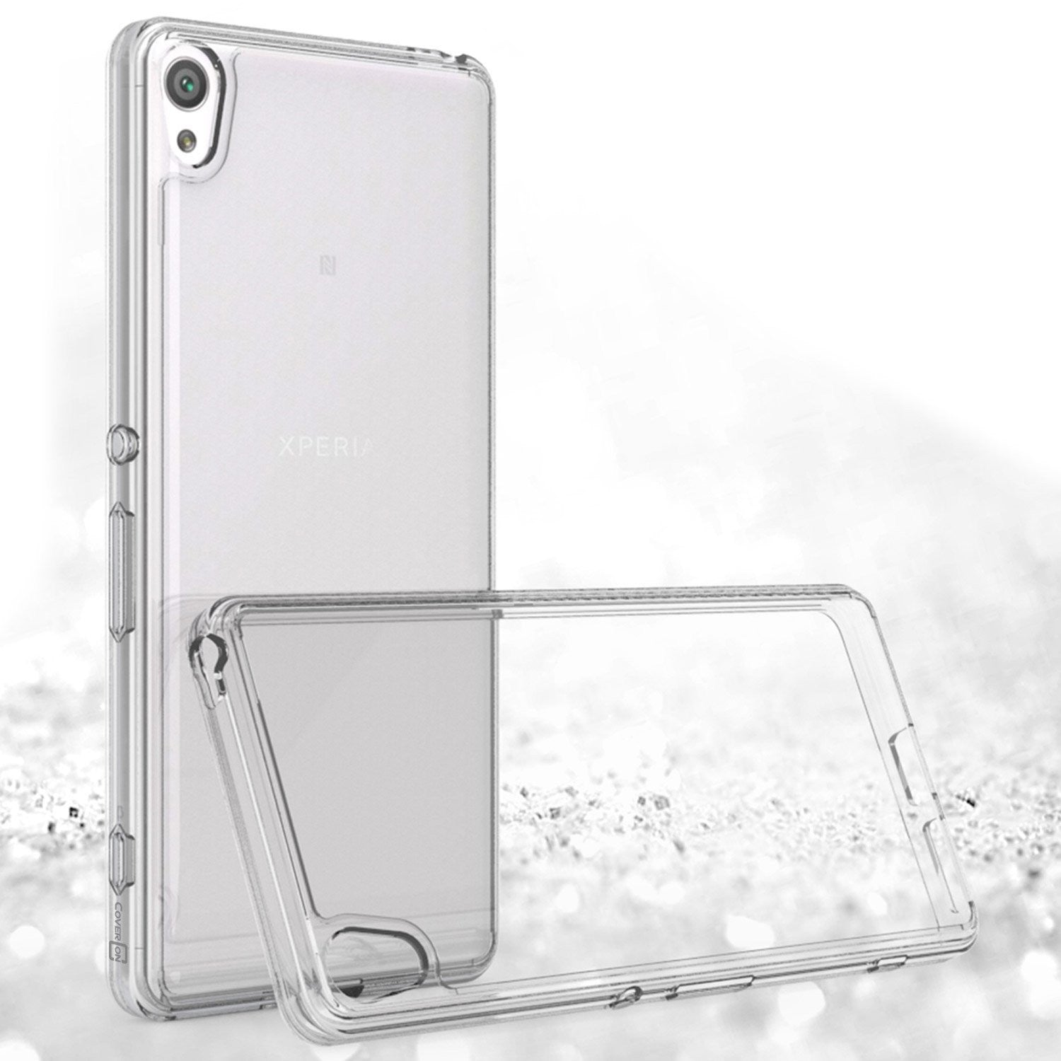 Crystal Clear Acrylic Plastic Back Panel and TPU Frame Stylish Phone Case for Sony Xperia XA