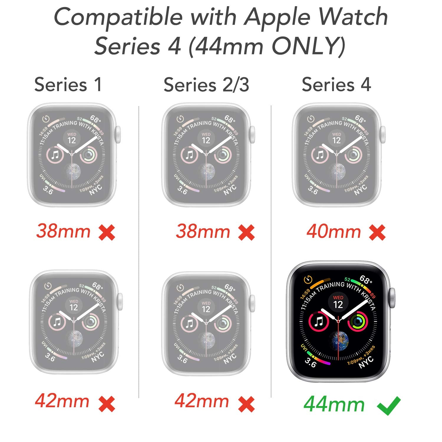 Apple Watch Case Cover Series 5 4 YOUMAKER HEAVY DUTY TOUGH ARMOR Band Strap