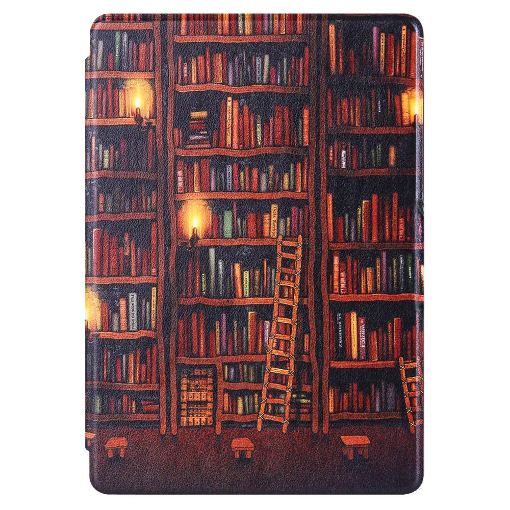 Premium Quality Colorful Painting Leather Cover for Amazon Kindle Paperwhite 10th Generation-2018-Gold Bookstore