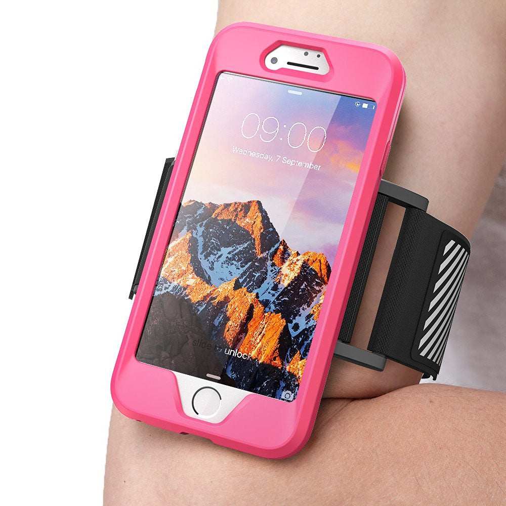 GENUINE SUPCASE ARMBAND CASE COVER, GYM SPORT RUNNING CASE For iPhone 8, 8 Plus - Pink