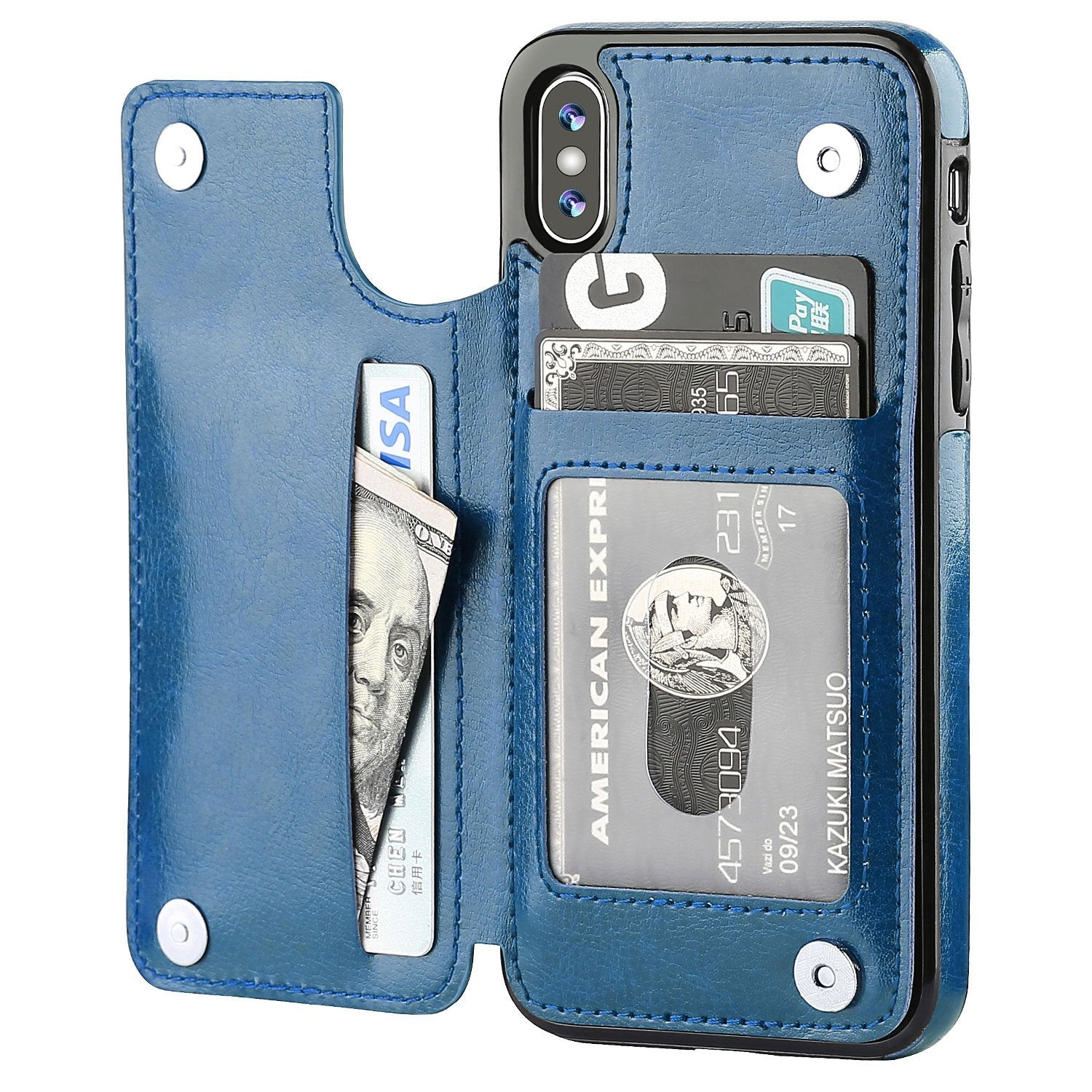 iPhone 7 Leather Wallet Case Magnetic Flip Card Shockproof Cover