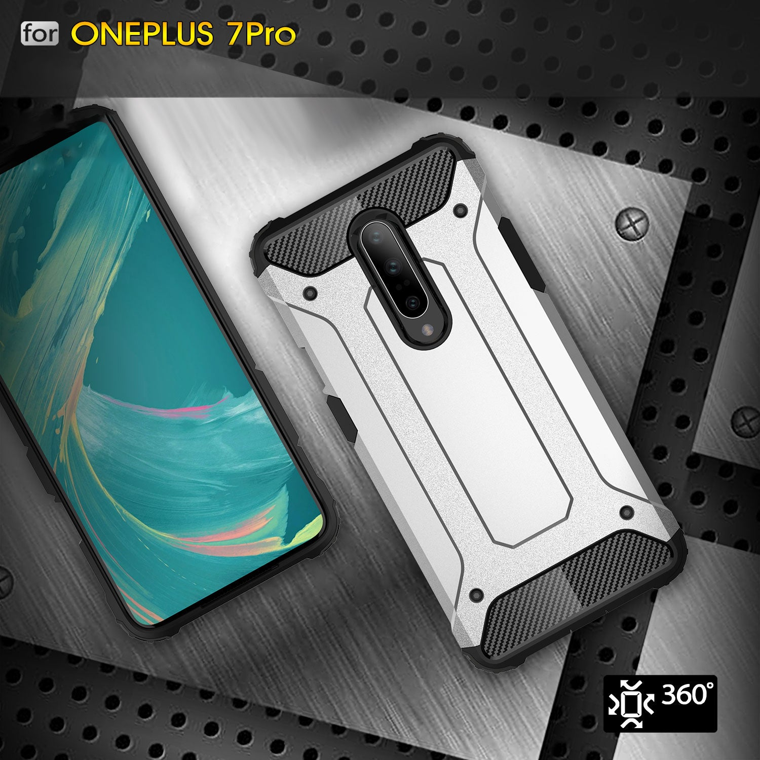 Oneplus 6T Case, Premium Flexible Soft Anti Slip TPU Cover