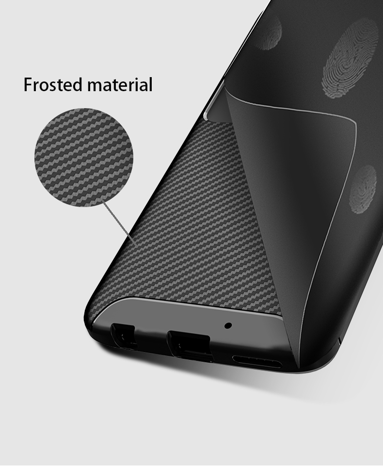 Motorola Moto E5 Shockproof Carbon Fiber soft Case Cover