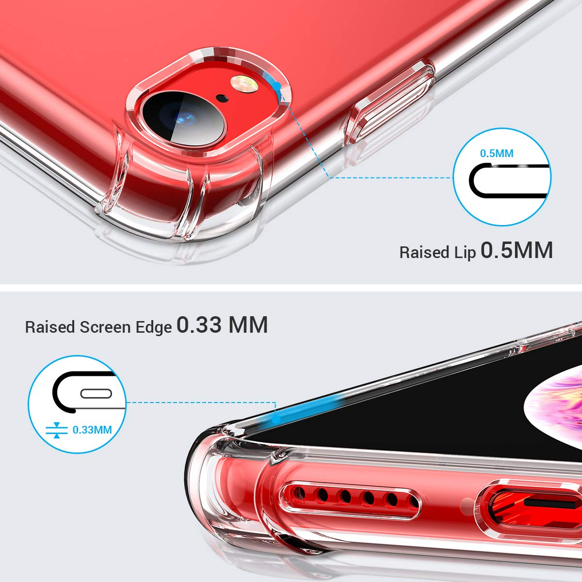 Clear Case For iPhone XR Shockproof Silicone Protective