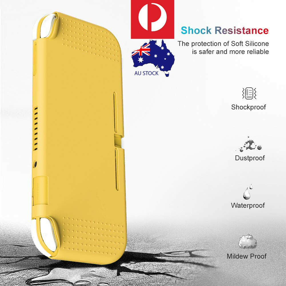For Nintendo Switch Lite Protective Case Cover TPU Tempered Glass Combo