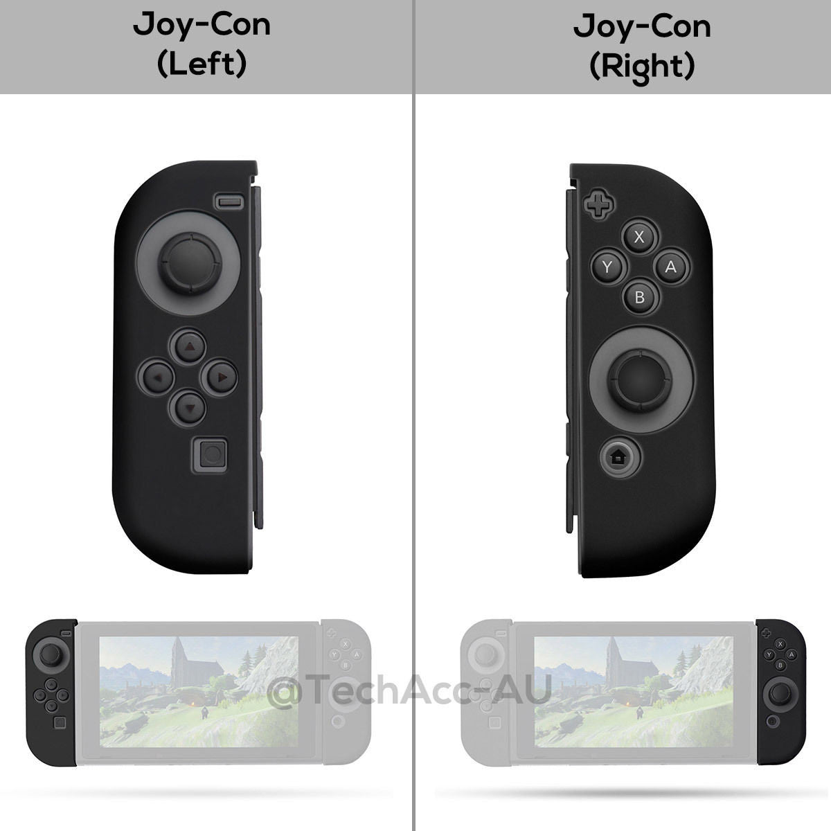 Soft Anti-slip Silicone Cover Skins for Nintendo Switch Grip Joy-Con Controller
