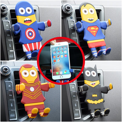 Universal Cartoon Car Smart Phone Holder Mounts GPS 360° For iPhone X, Galaxy