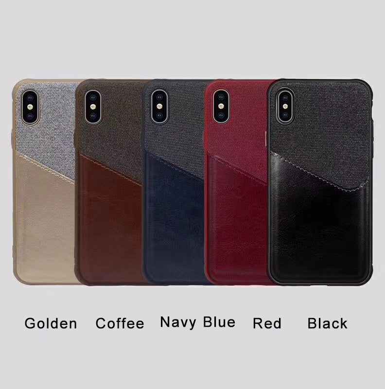 iPhone X Wallet Case Leather Slim Layered Card Slot Cover