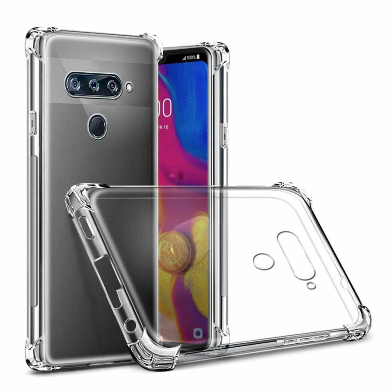 For LG V50 ThinQ Clear Case Heavy Duty Bumper Shockproof Cover