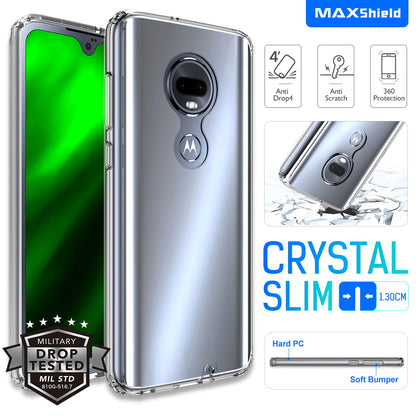 Moto G7 Plus Case, Maxshield Rugged Armor Ultra Clear Cover for Motorola