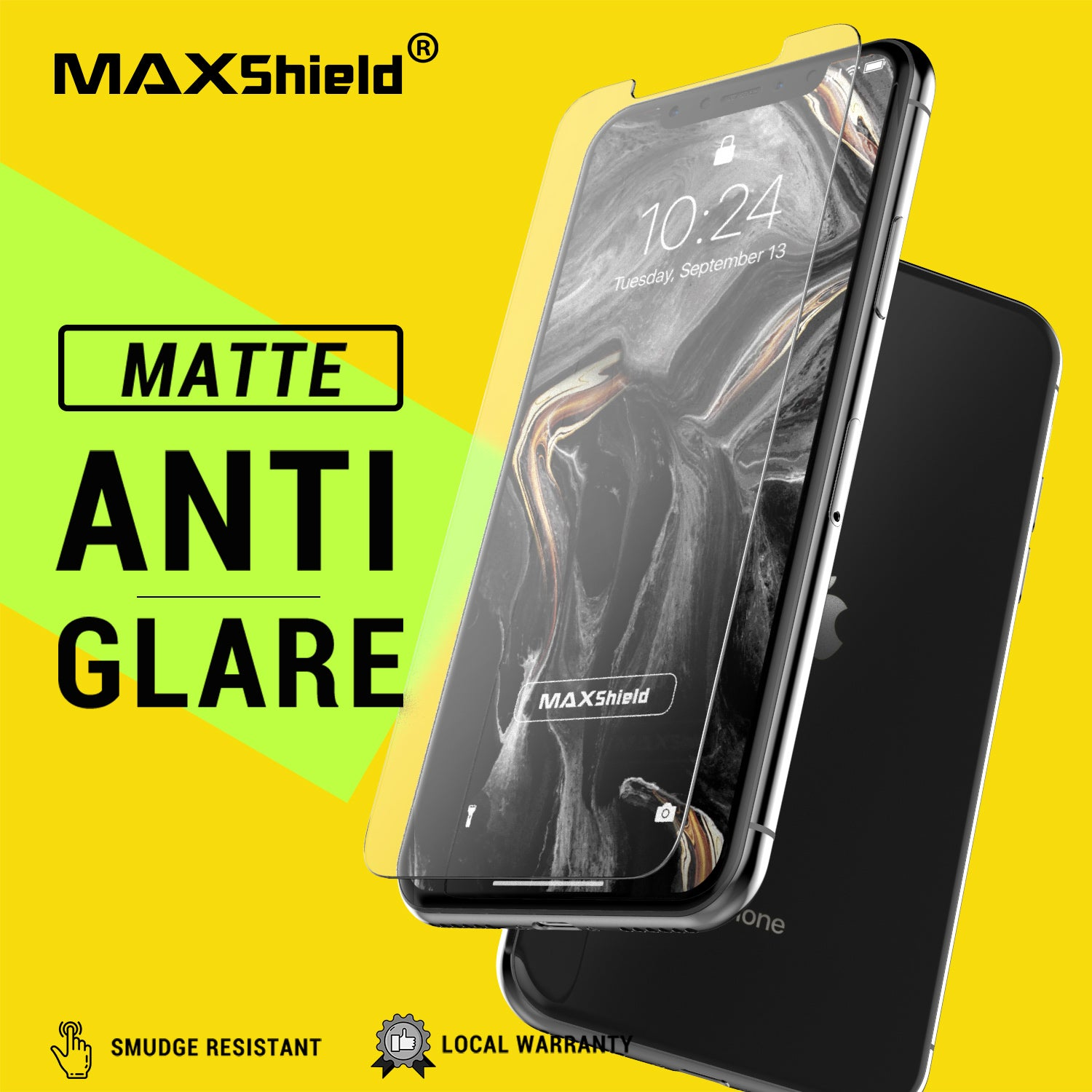 MAXSHIELD Matte Tempered Glass Screen Protector For Apple iPhone XI 11 Pro Max