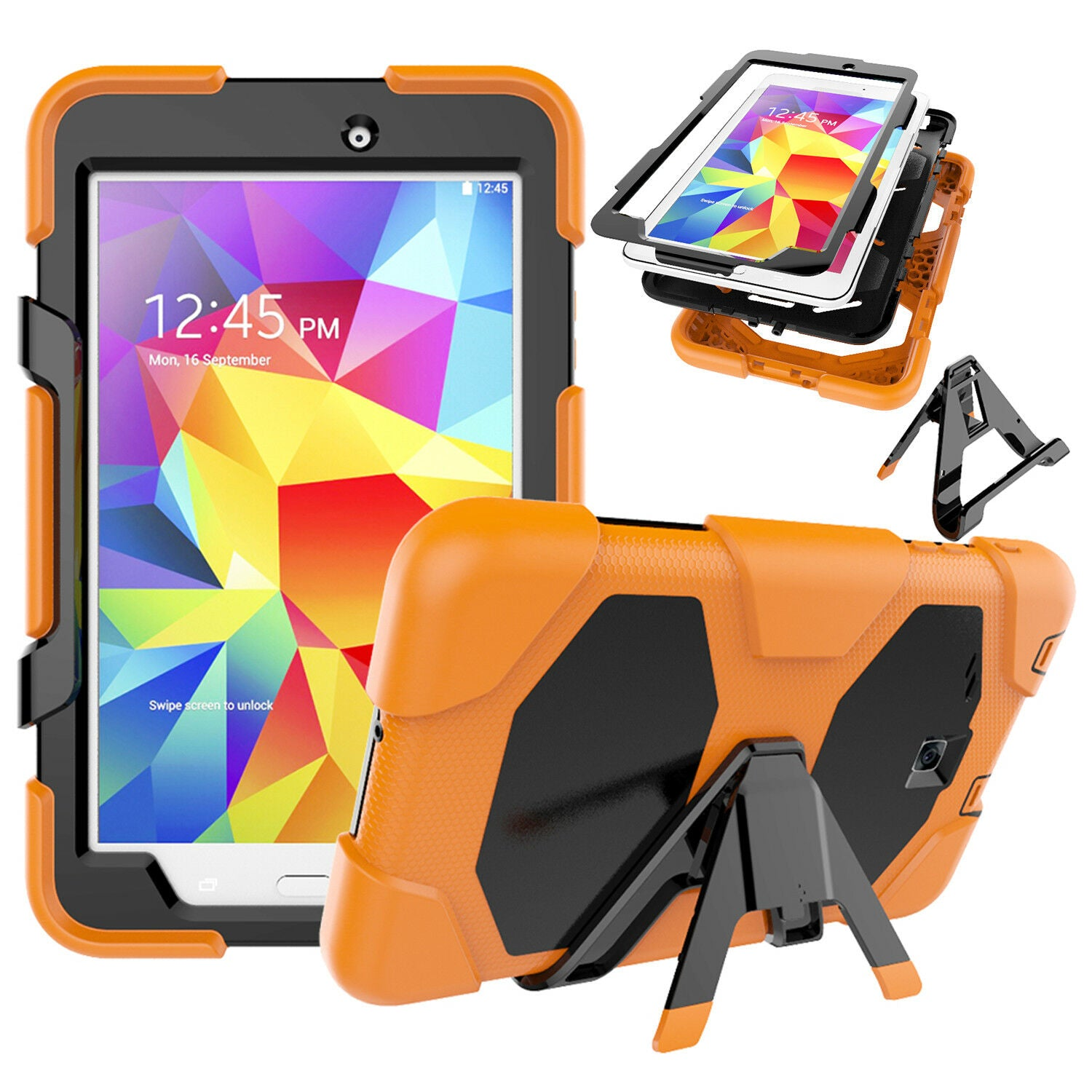"Heavy Duty Shock Proof Case Cover Samsung Galaxy Tab A 8"" T350 T351 T355"
