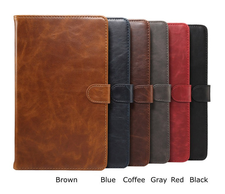 Luxury Leather Smart Case Cover For Samsung Galaxy Tab A 8.0-Brown