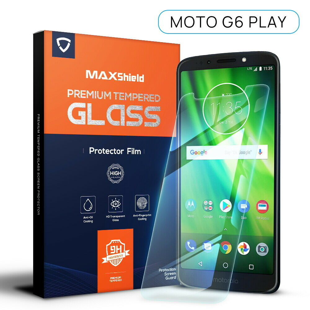 2X Motorola Moto G6 Play Tempered Glass Screen Protector