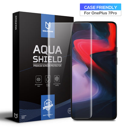 OnePlus 7 Pro Screen Protector, MaxShield HD Aqua Crystal for OnePlus 7 Pro