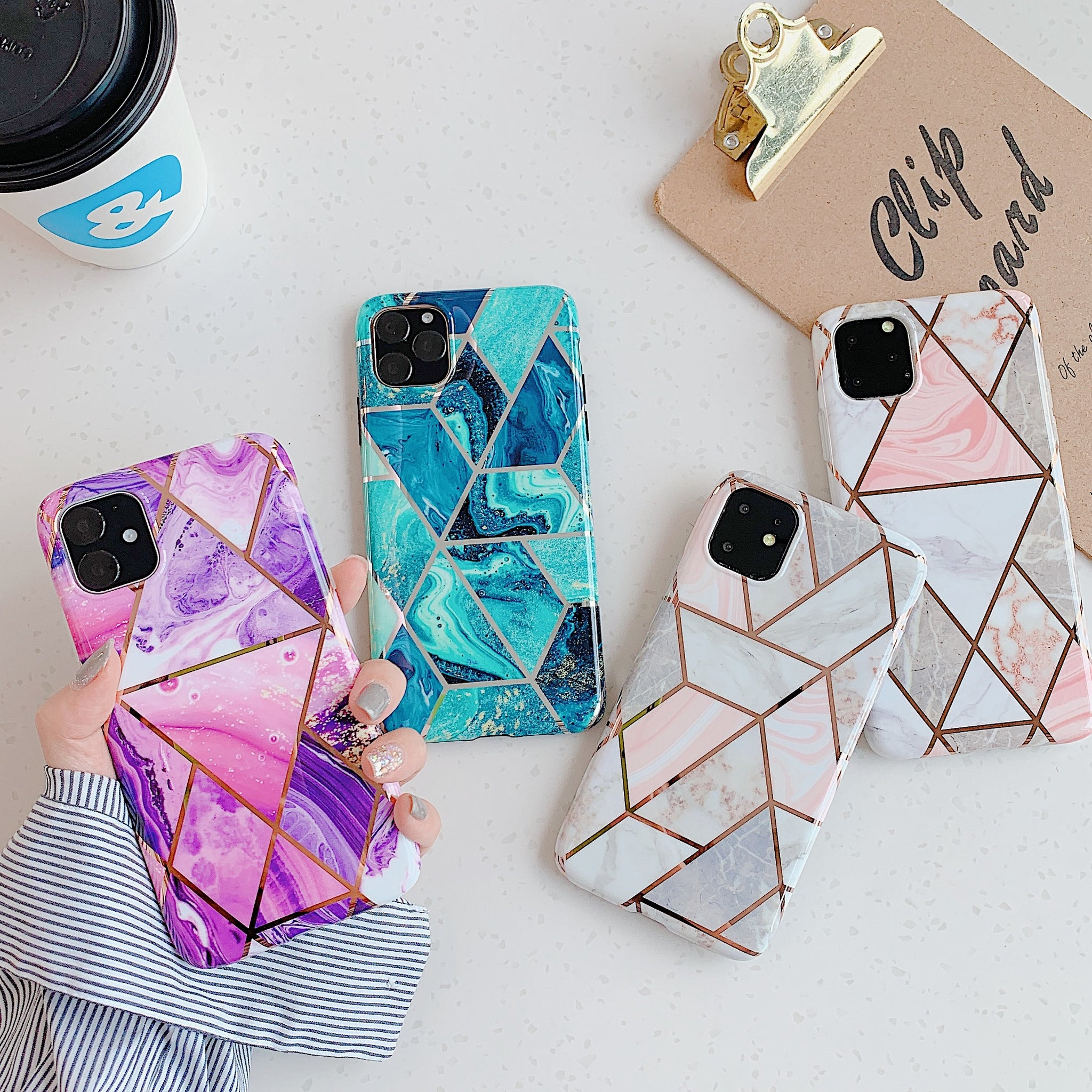 iPhone XI 11 Pro Max Case Soft TPU Case Marble Shockproof Silicone Gel Cover