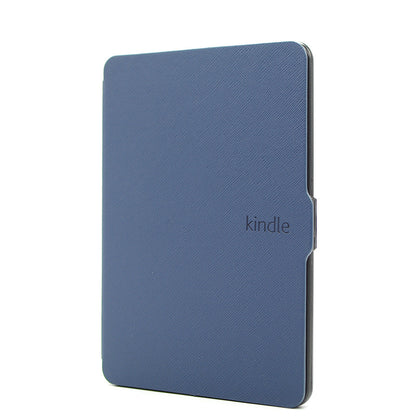 THINNEST, LIGHTEST LEATHER COVER FOR AMAZON KINDLE PAPERWHITE 1/2/3- DARK BLUE