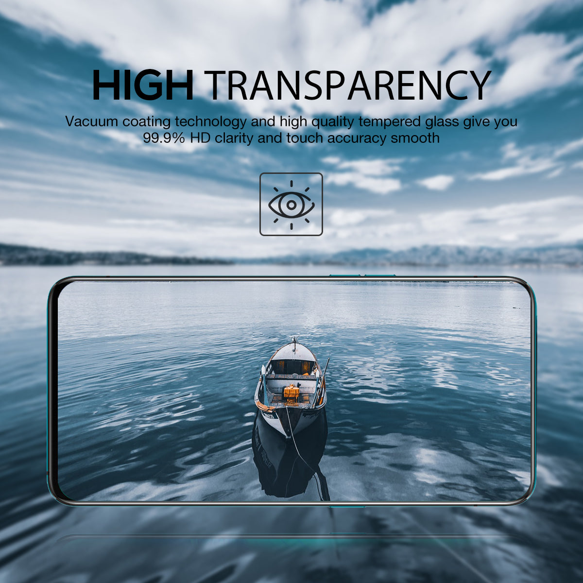 MAXSHIELD OPPO Reno 10x Zoom Full Coverage Tempered Glass Screen Protector