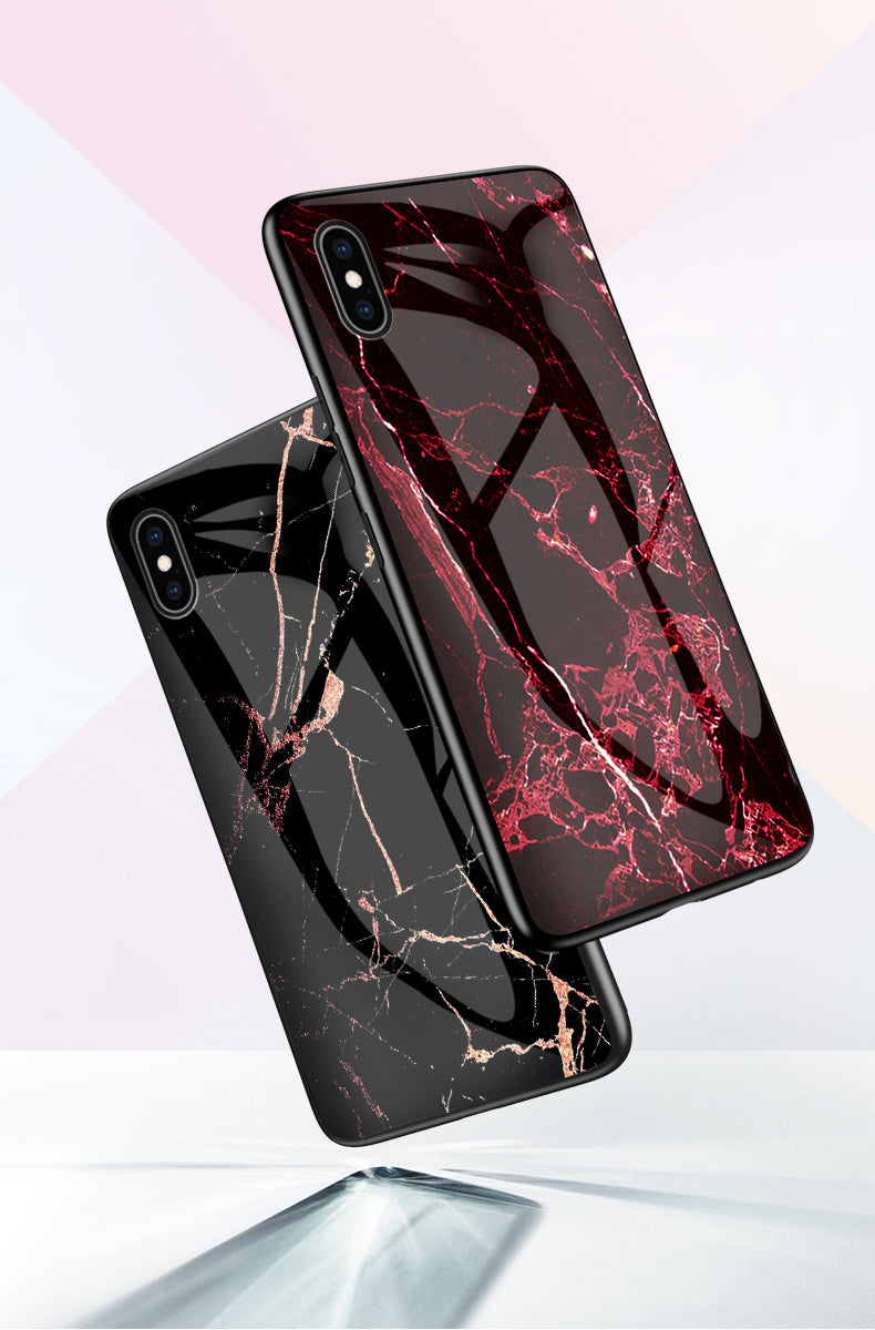 iPhone 8 Case Shockproof Tough Marble Soft Cover for Apple