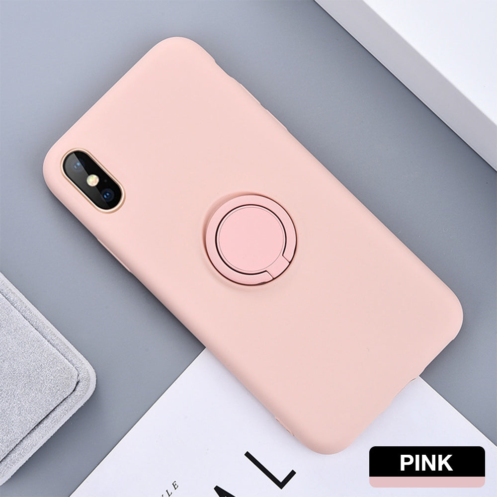 iPhone 7 Plus Thin Soft Silicone Ring Holder Case Cover